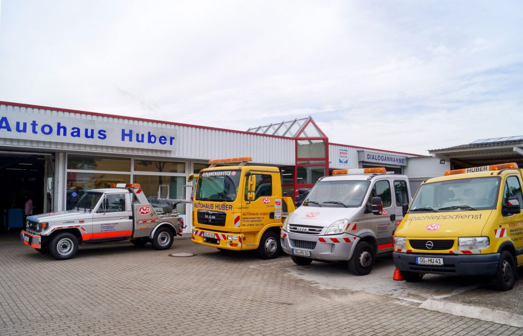 Abschleppflotte Autohaus Huber / Bosch Car Service
