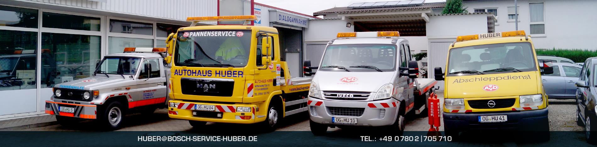 Unsere Abschleppflotte – Bosch Car Service Oberkirch, Autohaus Huber