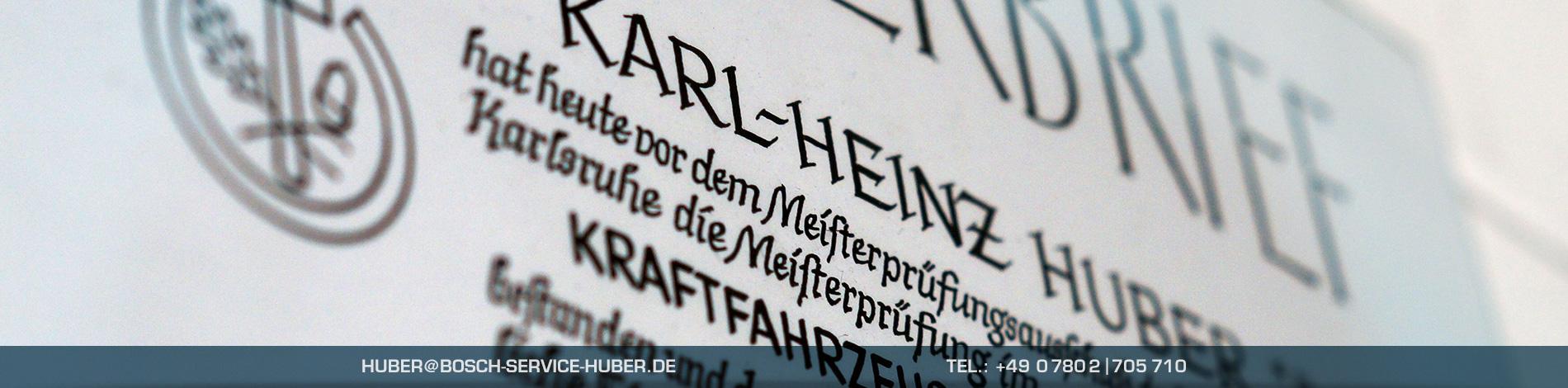 Meisterbrief Urkunde – Auszeichnungen